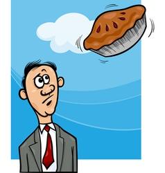 Pie in the sky saying cartoon vector