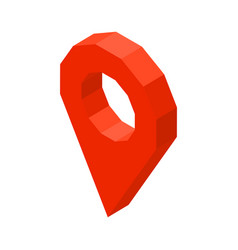 Point location 3d business icon vector