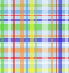 Seamless plaid pattern-blue vector image