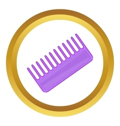 Toothed comb icon vector