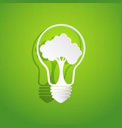 Tree in light bulb shape vector