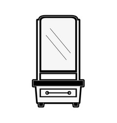 Vanity furniture icon image vector