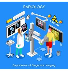 Xray hospital 01 people isometric vector