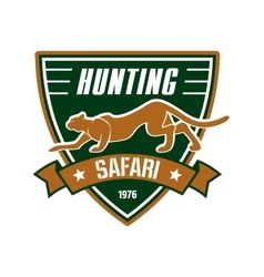 Hunting sport club sign vector image
