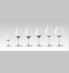 empty wine glasses collection vector image