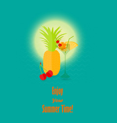 Summer vacation image with the lettering vector