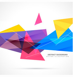 Colorful geometric triangles in abstract style vector
