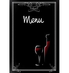 Wine Menu vector image