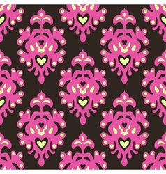 Samless damask contemporary vector