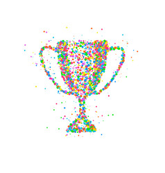 Abstract trophy cup vector