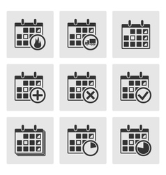 Calendar icons events progress delivery vector