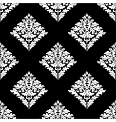 Floral damask seamless pattern vector