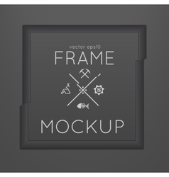 Template of square slashed frame with vector