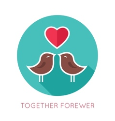 Valentines day flat isolated icon together vector