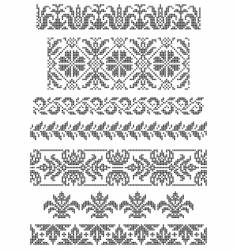 Embroidery borders vector
