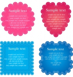 Set of foru napkin vector