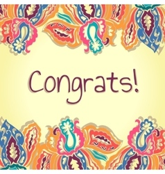Congrats card abstract colorful vector