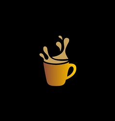 Coffee cup drink cafe logo vector