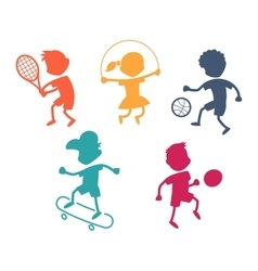 Cartoon sport icons vector