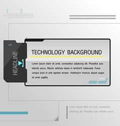 Technology background black template modern vector