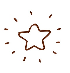 Hand drawn bright star vector