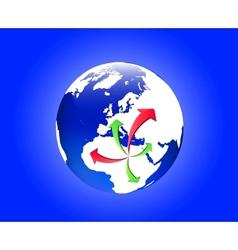 emigration from libya vector image