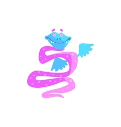 Snake purple childish monster vector