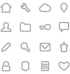 Icons in minimalist style vector