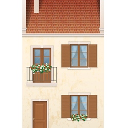 Traditional european town house vector