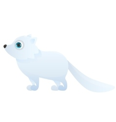Arctic fox on a white background vector image vector image