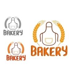 Bakery shop signboard or emblem design vector