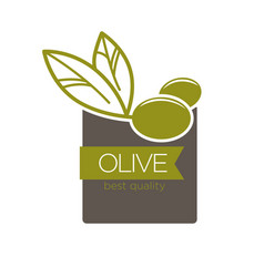 best quality olive label vector image vector image