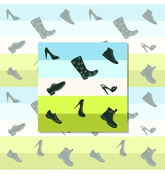Black shoes vector image