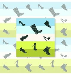 Black shoes vector