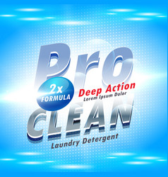Blue detergent advertising concept for washing vector