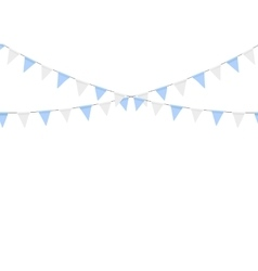 Buntings garlands isolated on white background vector image vector image