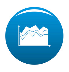 Business graph icon blue vector