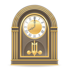 Clock old retro icon stock vector
