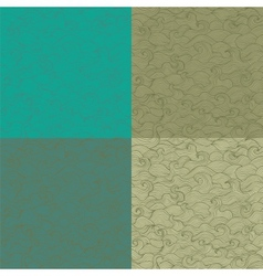 Collection of retro colored marine patterns vector image vector image