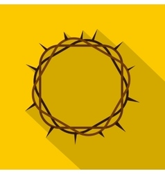 Crown of thorns icon flat style vector