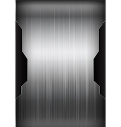 Dark chrome black and grey background texture vector