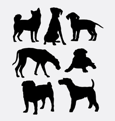 Dog pet animal symbol silhouette vector image vector image