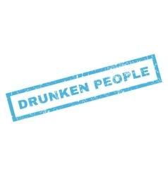 Drunken people rubber stamp vector