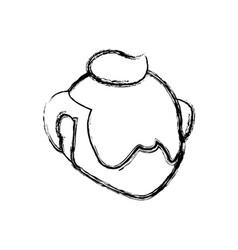 faceless male avatar elder head vector image