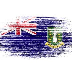 Flag of virgin islands uk with old texture vector