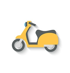 Flat Design Scooter Isolated on white Background vector image