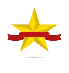 Golden shiny glossy star vector