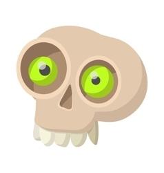 Human skull icon cartoon style vector image