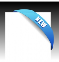 new blue corner business ribbon vector image vector image