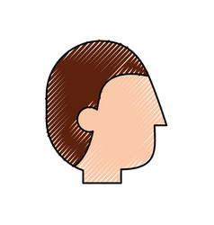 profile head man business professional icon vector image